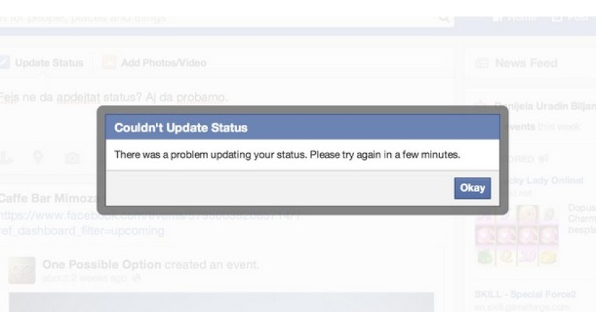Facebook Suffers Sitewide Errors for Many Users