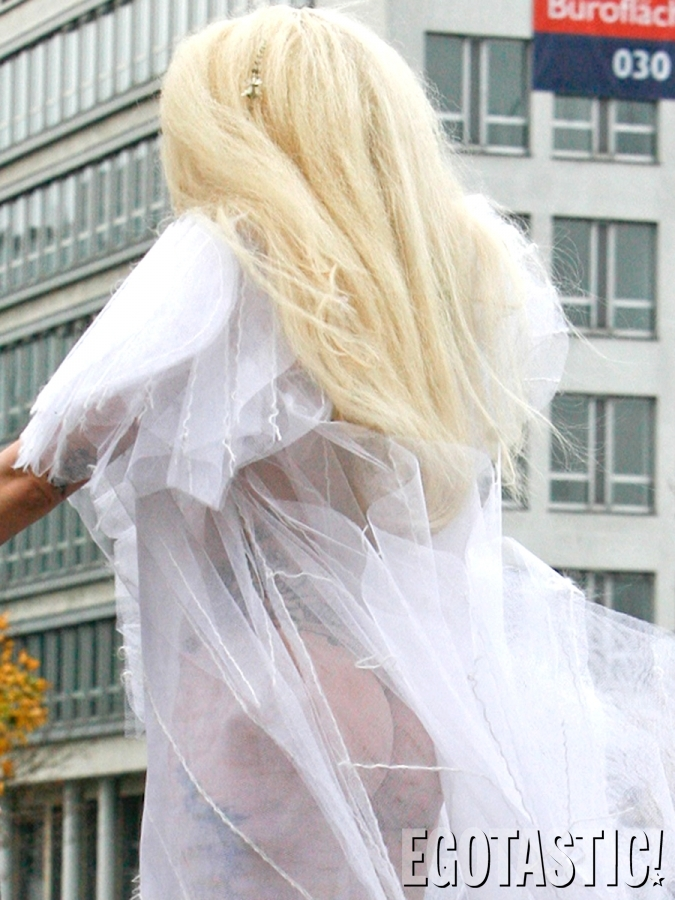 Lady Gaga in White Dress